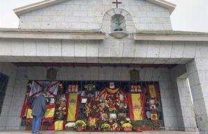 El panteón de la familia Franco, adonde fueron trasladados los restos del dictador el 24 de octubre de 2019.