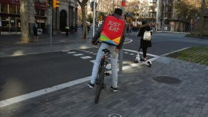 Repartidor de Just Eat, en Barcelona.