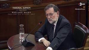 Mariano Rajoy, declarando en el Supremo.