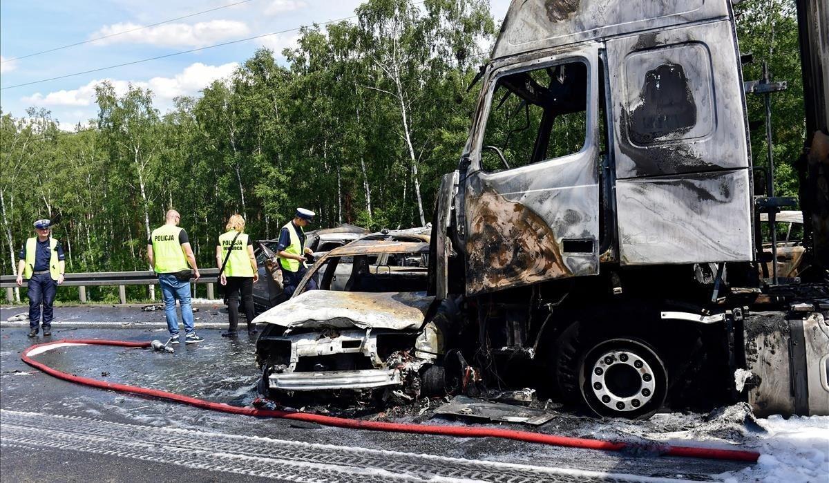 Accidente con seis muertos en una carretera polaca.