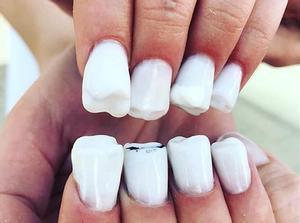 Las uñas 'muela' revolucionan Instagram.