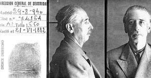 La ficha policial de Lluís Companys