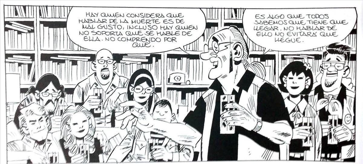 Viñeta de 'Crisálida', el nuevo cómic de Carlos Giménez.