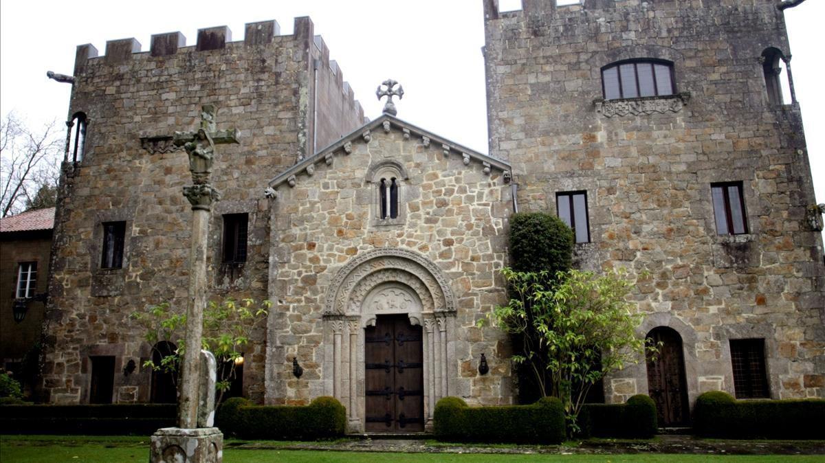 Fachada del Pazo de Meirás, en Sada (A Coruña).