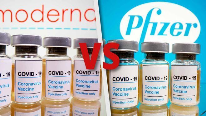 Comparativa entre la vacuna de Pfizer y la de Moderna