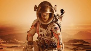Matt Damon, en una imagen promocional de 'Marte (The martian'), de Ridley Scott