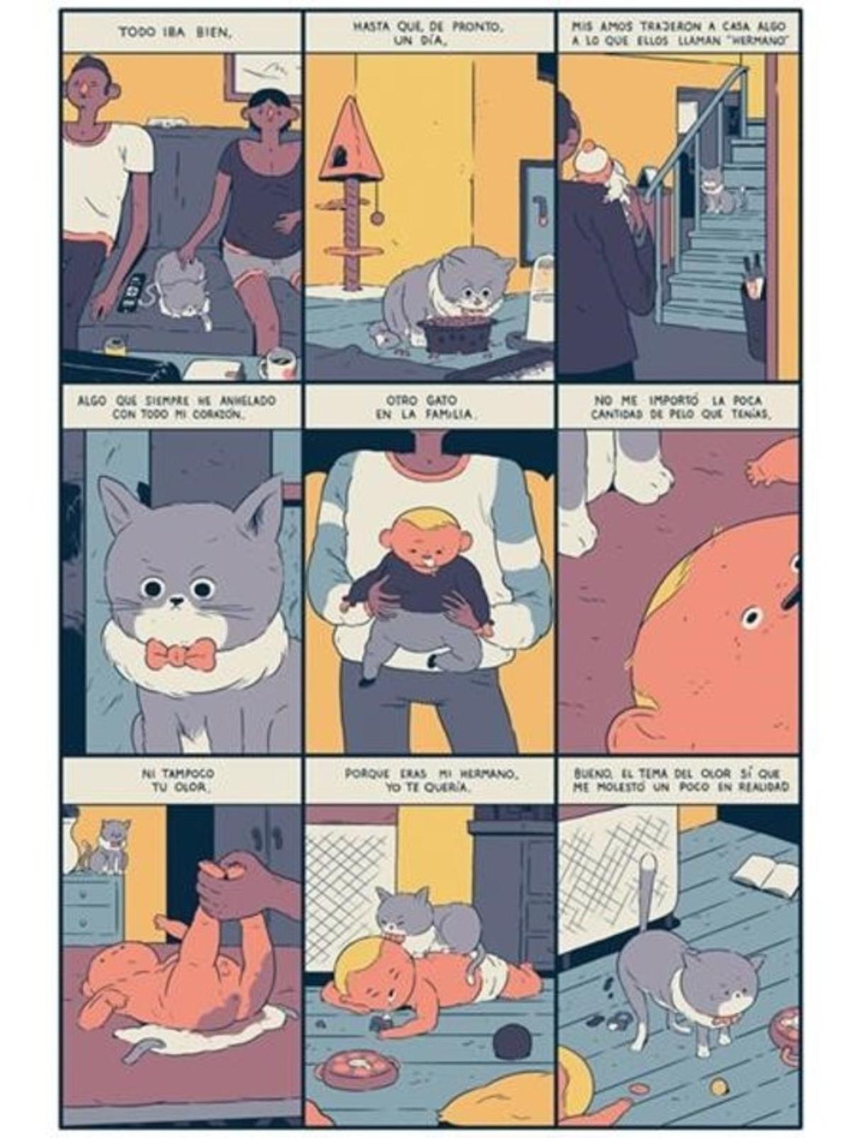 Páginade una historia corta de Kensausage (Cristian Robles), que forma parte dela nueva revista de cómic 'Voltio'.