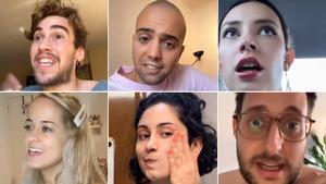 Los 'tiktokers' Iker Montero, Arnau Moreno, Emma Geiki, Ainhoa Maiquez, Paula Martínez y Rubén García.