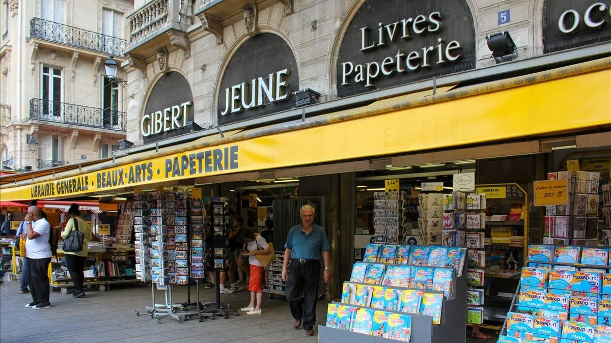 Uno de las librerías de Gibert Jeune en París.
