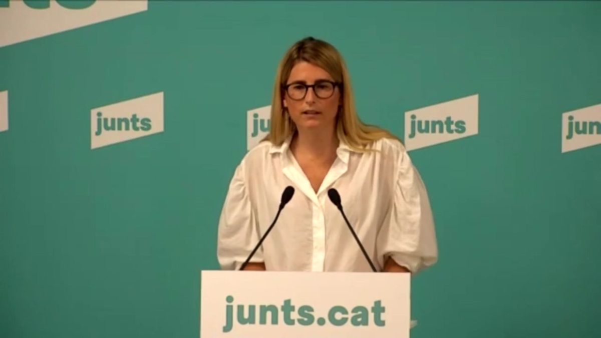 Elsa Artadi tilda de farsa el discurso de Pedro Sánchez.