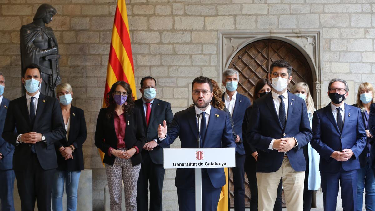 Aragonès carga contra el Estado pero trata de salvar el diálogo ante las invectivas de Junts
