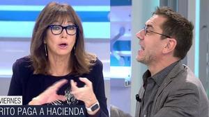 """Ana Rosa responde a Monedero por sus críticas al Rey emérito: """"Tú hiciste lo mismo"""""""