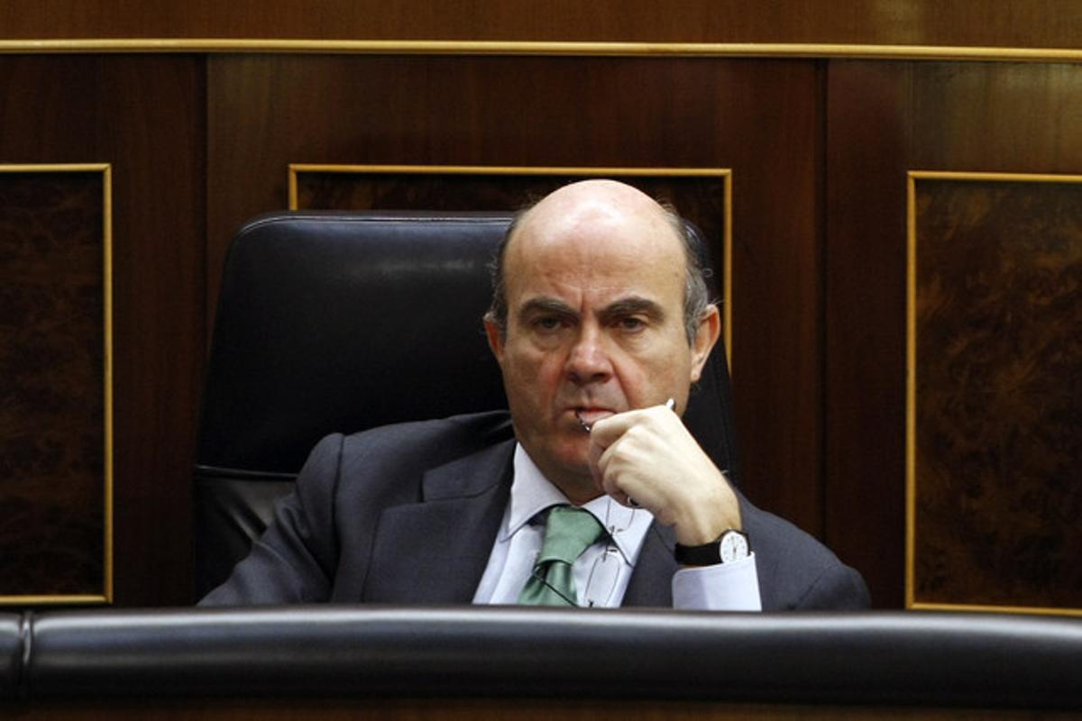 Guindos, el pasado miércoles, en la sesión de control al Gobierno.