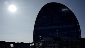 Sede central del BBVA en Madrid.
