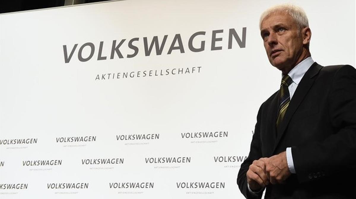 Matthias Müller, presidentedel grupo Volkswagen.