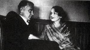 Mijaíl Bulgákov, con su tercera esposa Elena Sergueievna.