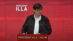 Salvador Illa en su intervención durante el Consell Nacional del PSC.