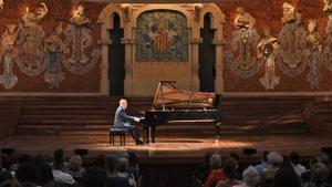 Guinovart, durante su concierto en el Palau.