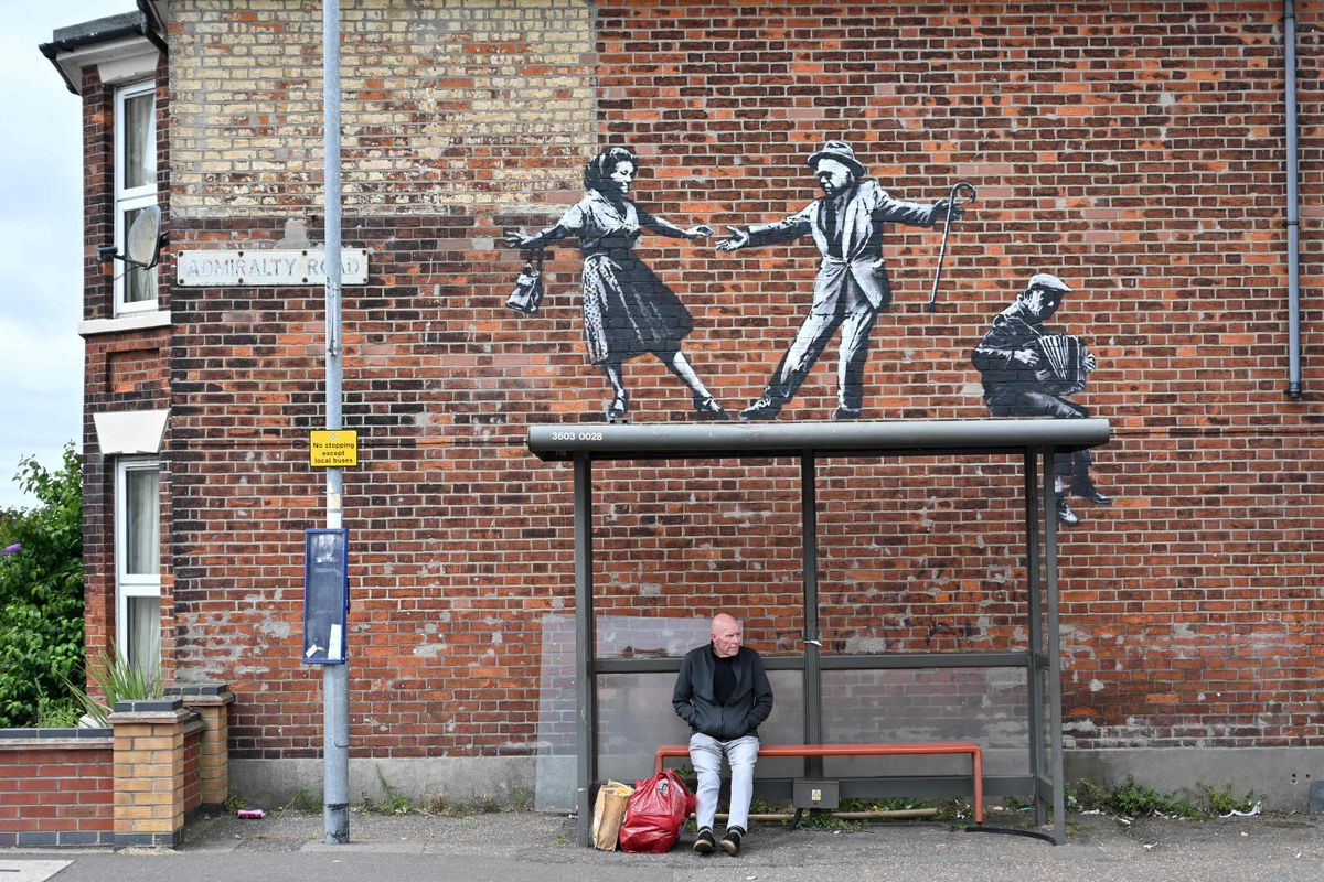 Una de las obras que Banksy se ha atribuido.