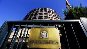 Fachada de la sede del Tribunal Constitucional, en Madrid.