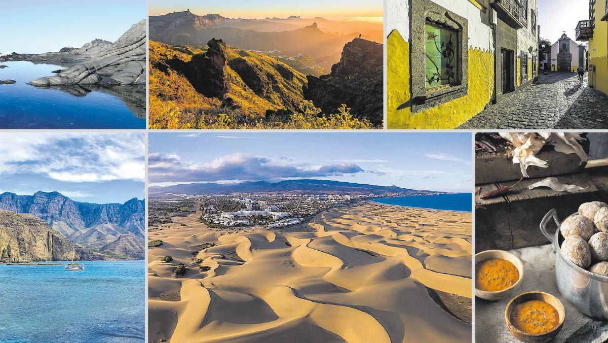 Para todos los gustos. En Gran Canaria se pueden visitar dunas de arena fina, acantilados que asoman al Océano Atlántico, escarpadas montañas o cascos antiguos coloniales además de disfrutar de su afamada gastronomía.