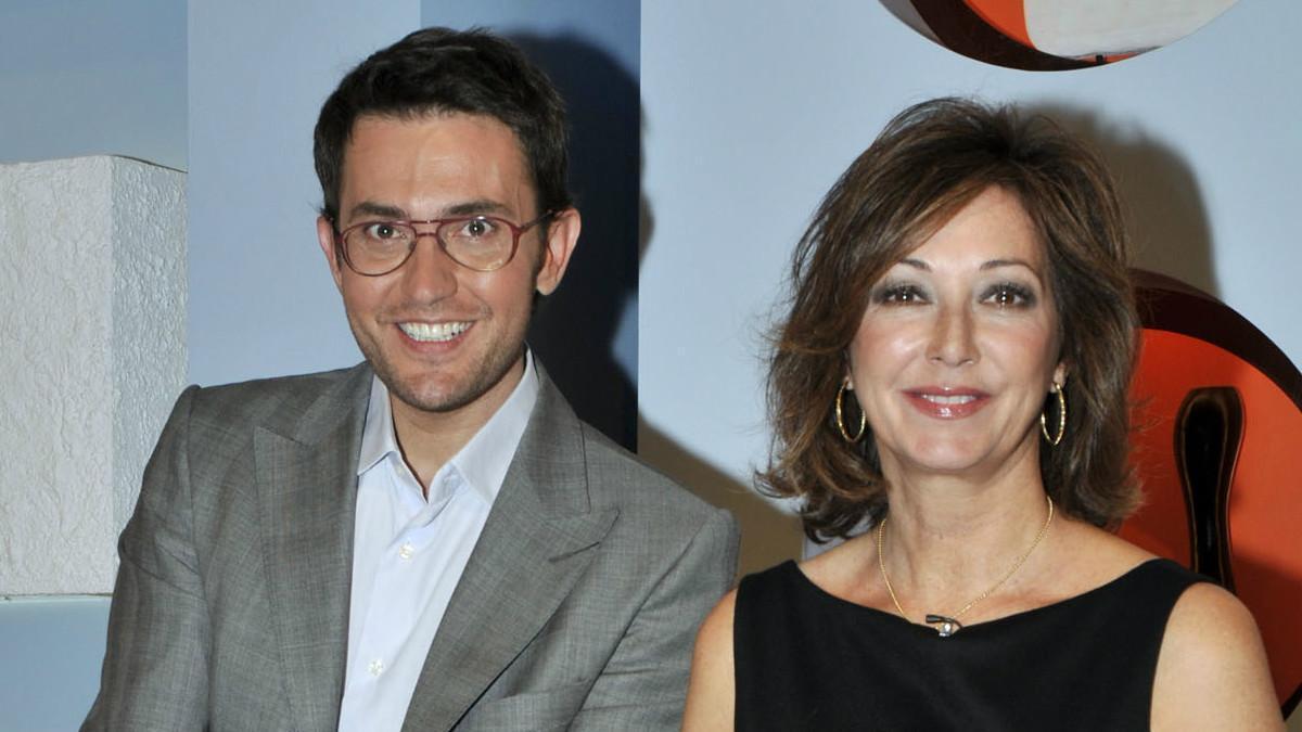 Màxim Huerta, nuevo ministro de Cultura y Deporte, y la presentadora Ana Rosa Quintana celebraban los 1.000 programas de 'Ana Rosa'.