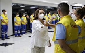 Personal médico español de laFundación SAMU en El Salvador.