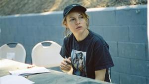 Amy Seimetz en el rodaje de 'She dies tomorrow'.