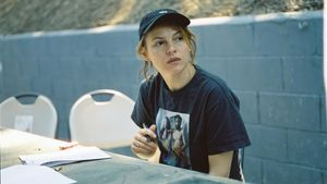Amy Seimetz en el rodaje de 'She dies tomorrow'.
