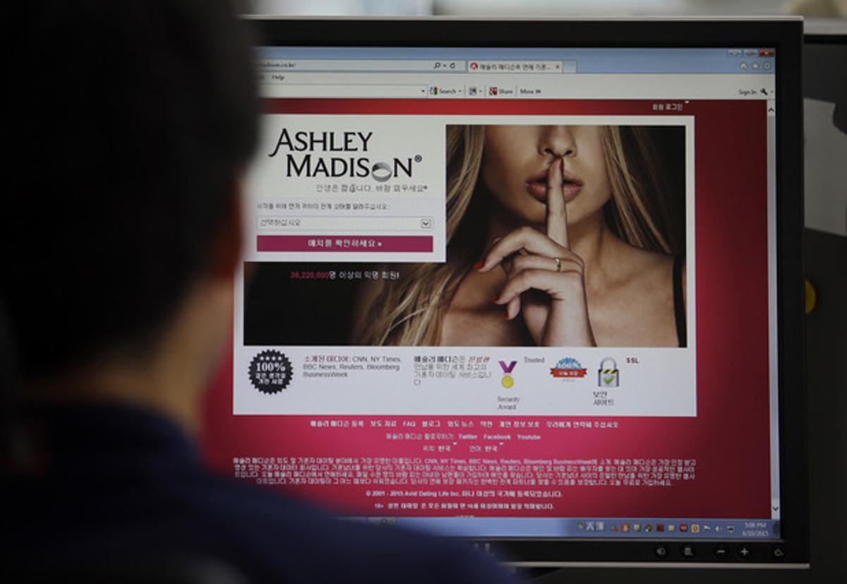 La web de Ashley Madison.