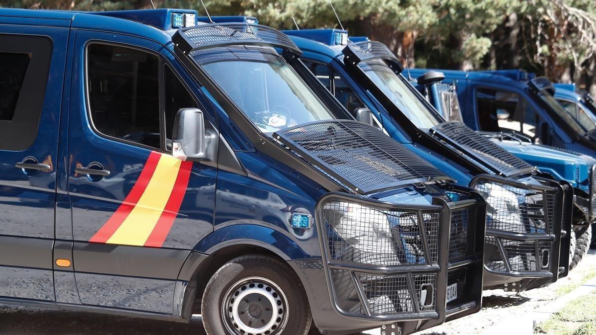 Vehiculos de la Policía Nacional.