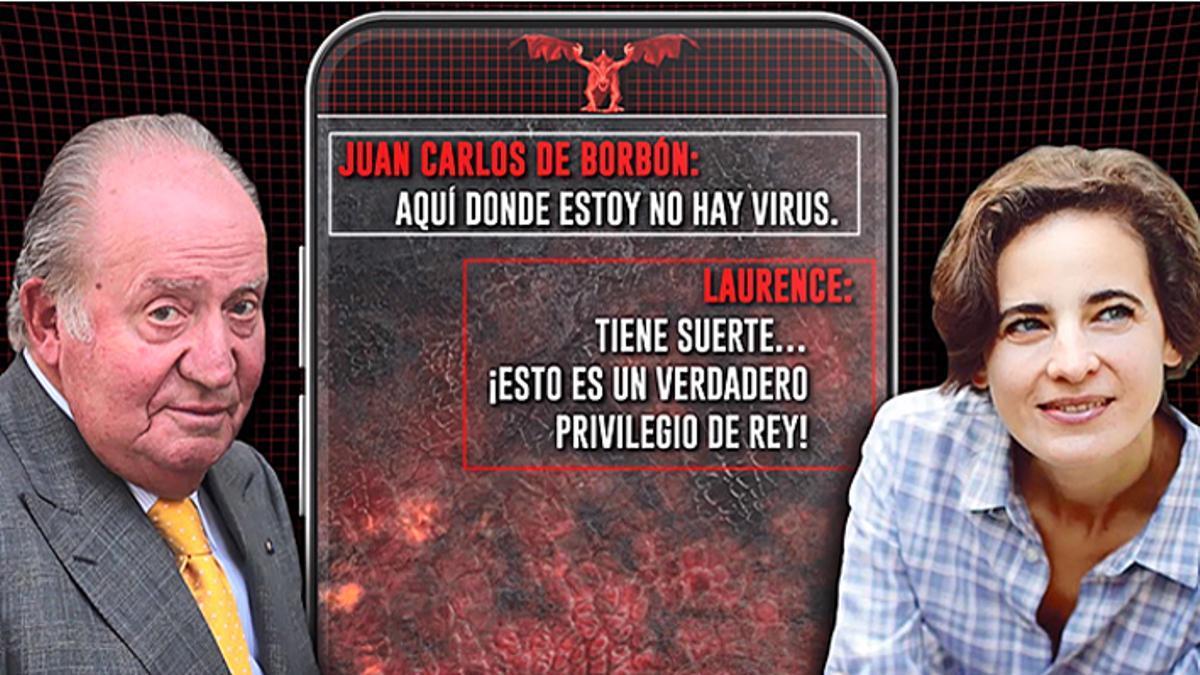Mensajes entre Laurence y Juan Carlos.