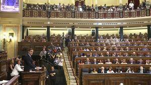 El Congreso de los Diputados, durante el debate de investidura.