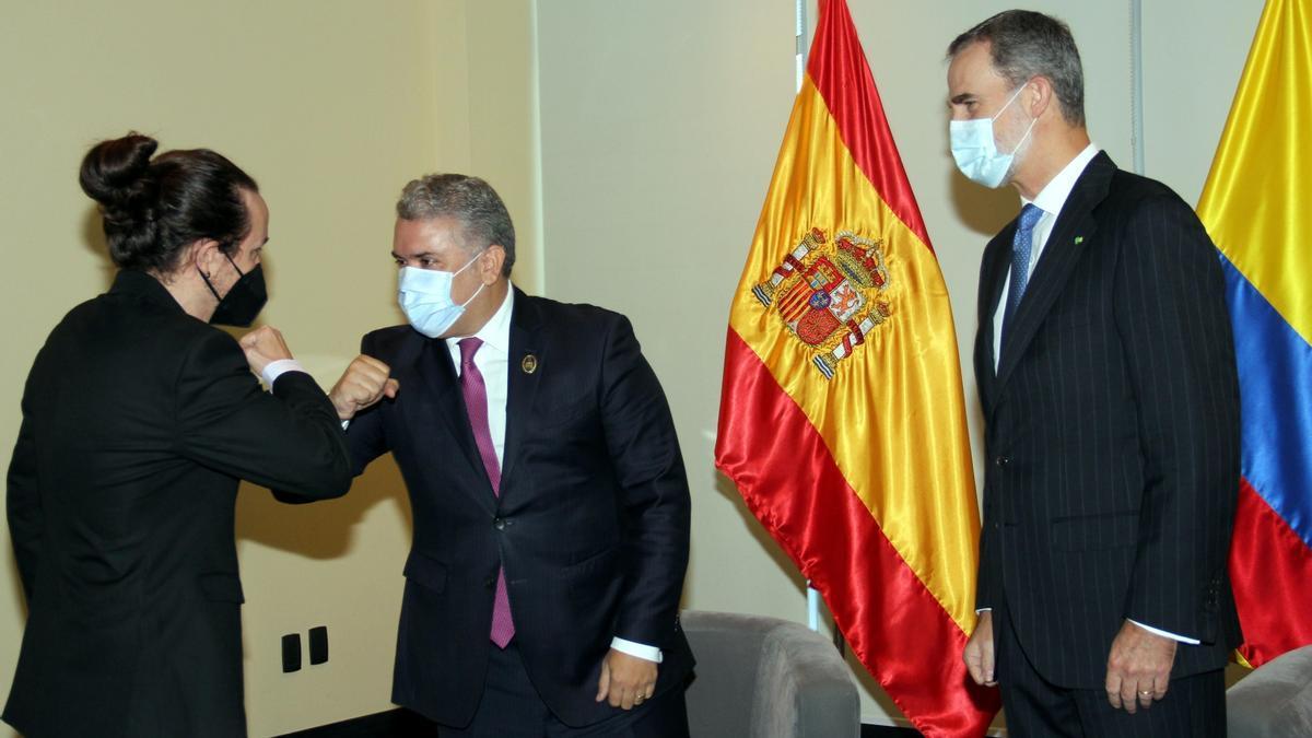 El rey Felipe VI acude a la toma de posesión del nuevo presidente de Bolivia Luis Arce, acto al que también ha asistido Pablo Iglesias
