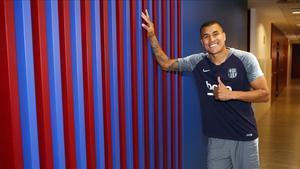 Jeison Murillo tras pasar las pruebas físicas con el Barça.