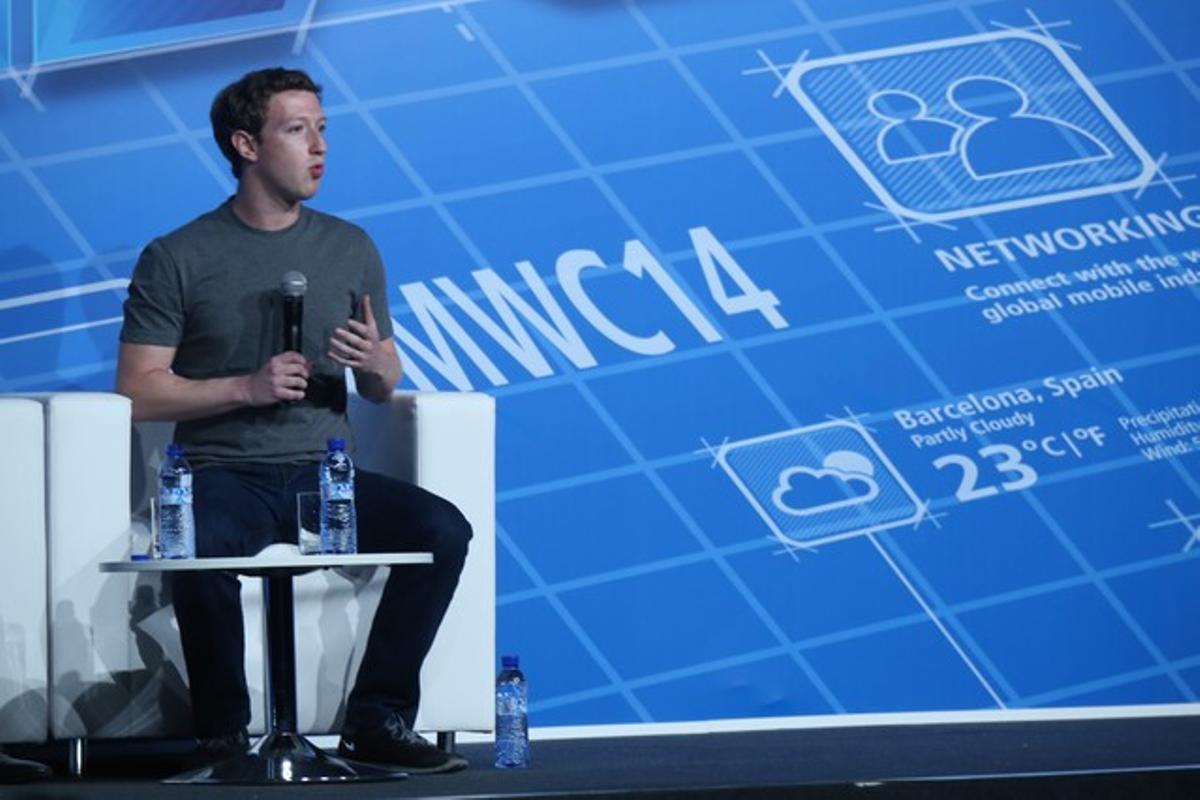 Mark Zuckerberg, en su vista a Barcelona, el pasado febrero.