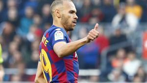 Braithwaite debuta como titular en el Barça.