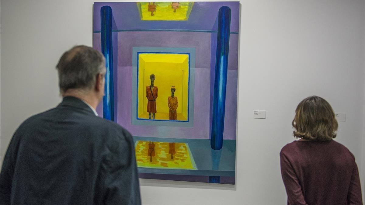 'Finestra observatori', obra de este mismo año de Robert Llimós, expuestaen la muestra de la Fundació Suñol sobre el galerista.