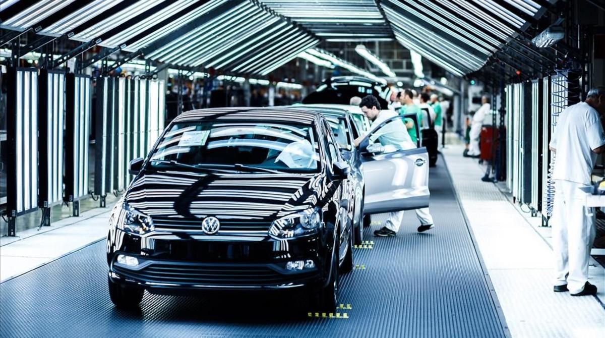 La producción del Polo en la planta de Volkswagen Navarra