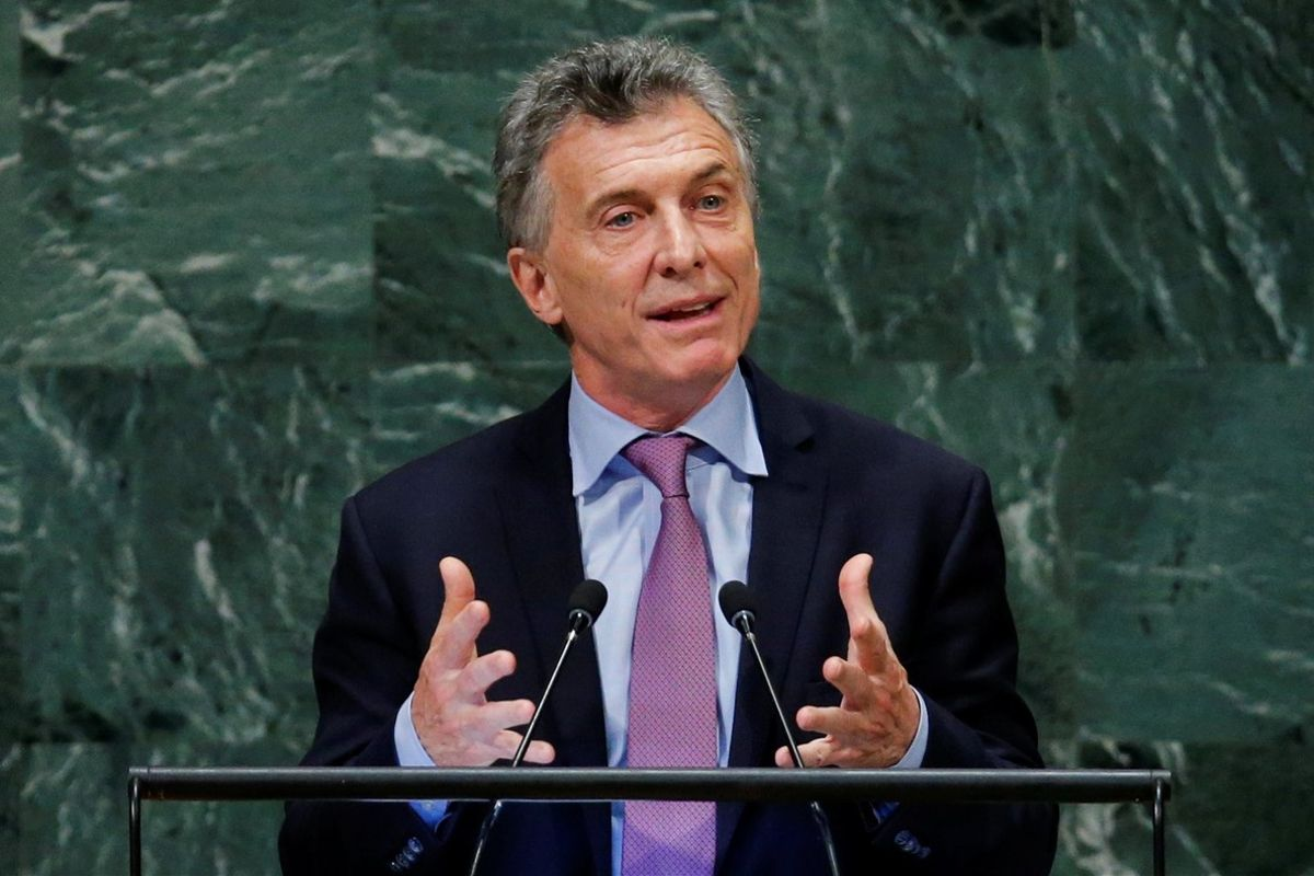 Argentina s President Mauricio Macri addresses the 73rd session of the United Nations General Assembly at U N  headquarters in New York  U S   September 25  2018  REUTERS Eduardo Munoz