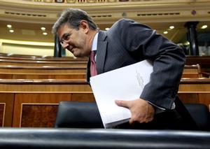El ministro de Justicia, Rafael Catalá, durante la sesión de control al Gobierno en el Congreso.