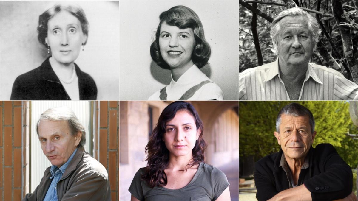 Virginia Woolf, Sylvia Plath, William Styron, Michel Houellebecq, Otessa Moshbegh y Emmanuel Carrère.