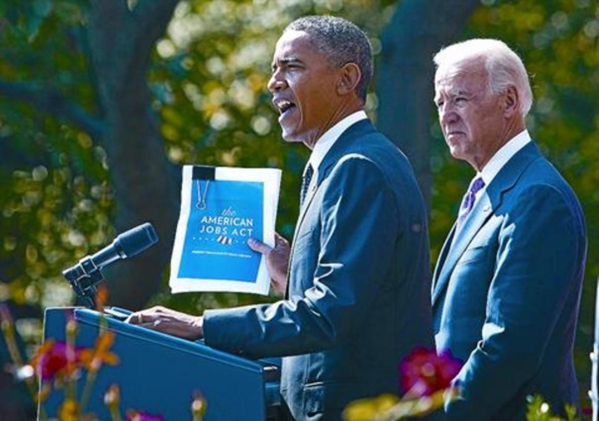 Barack Obama, el lunes, en la presentación de su plan para generar empleo.