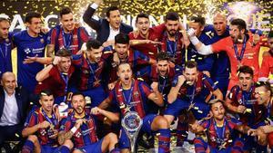 El Barça suma la tercera Champions de futbol sala en una final agònica contra El Pozo