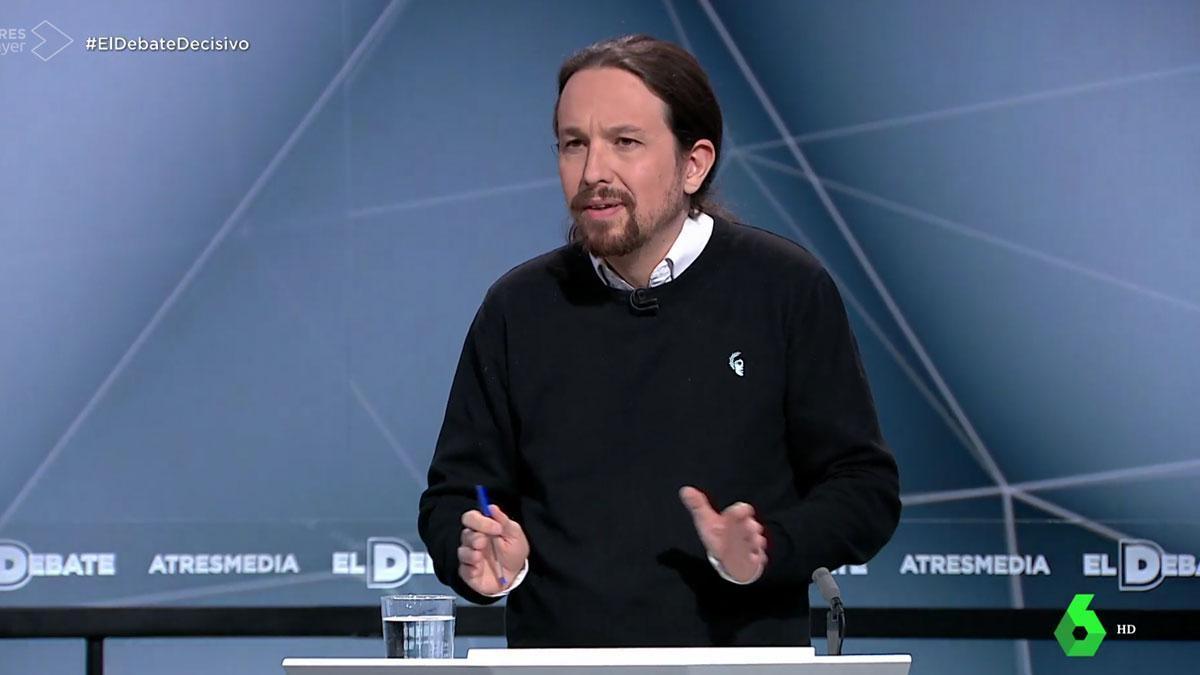 Debate en Atresmedia. Pablo Iglesias: Cuando la gente se mueve, cambian cosas.