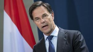 El primer ministro de Holanda, ya dimitido, Mark Rutte.