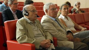 Fèlix Millet y Jordi y Gemma Montull, en la última sesión del juicio, el pasado 16 de junio.