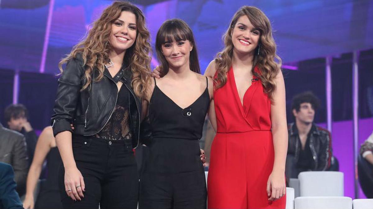 Miriam, Aitana y Amaia, las tres finalistas de 'OT'.