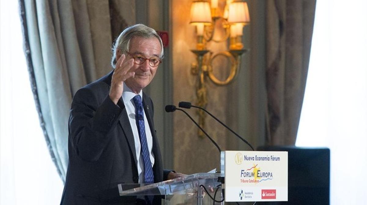 Xavier Trias, durante su intervención en el Fòrum Europa Tribuna Catalunya.