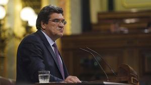 El ministro de Seguridad Social, José Luis Escrivá, en el Congreso de los Diputados.
